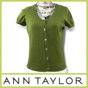 Ann Taylor Shirt Sleeve Cardigan